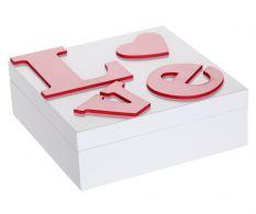 Cutie din lemn Love
