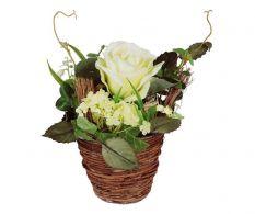 Vaza cu flori albe