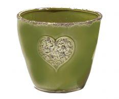 Ghiveci flori Vintage Verde 16 cm