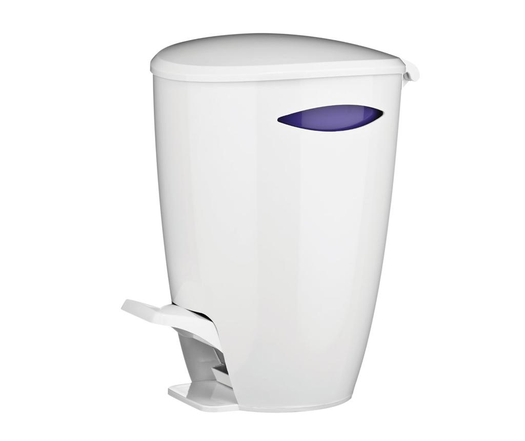 Cos de gunoi White and Purple 5 L - Premier, Alb