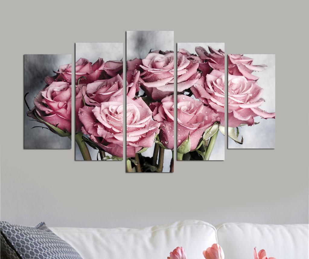 Set 5 tablouri Roses imagine