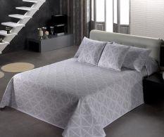 Cuvertura Thais Geometric Blanco 180x270cm