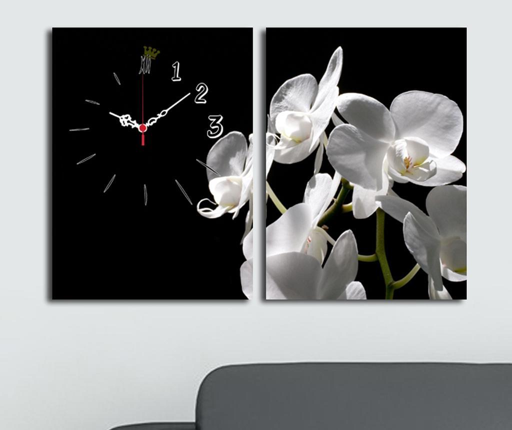 Set 2 tablouri cu ceas Simple 30x40 cm