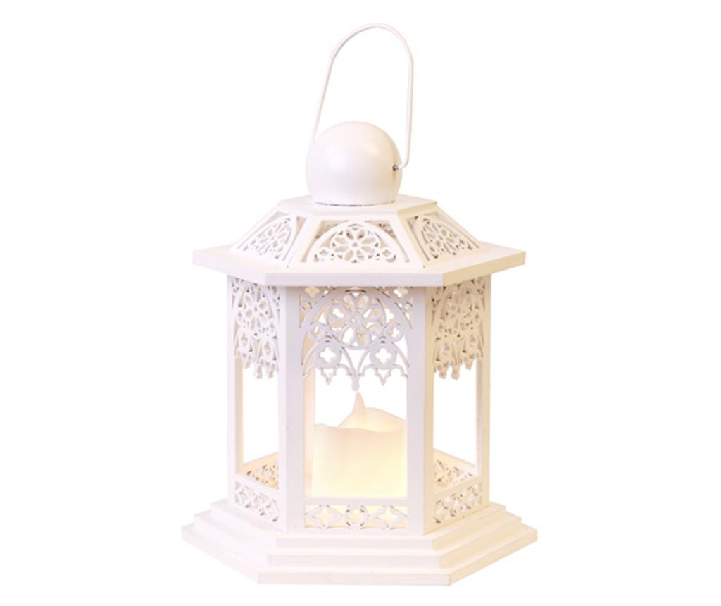 Felinar cu lumanare LED White Lace imagine