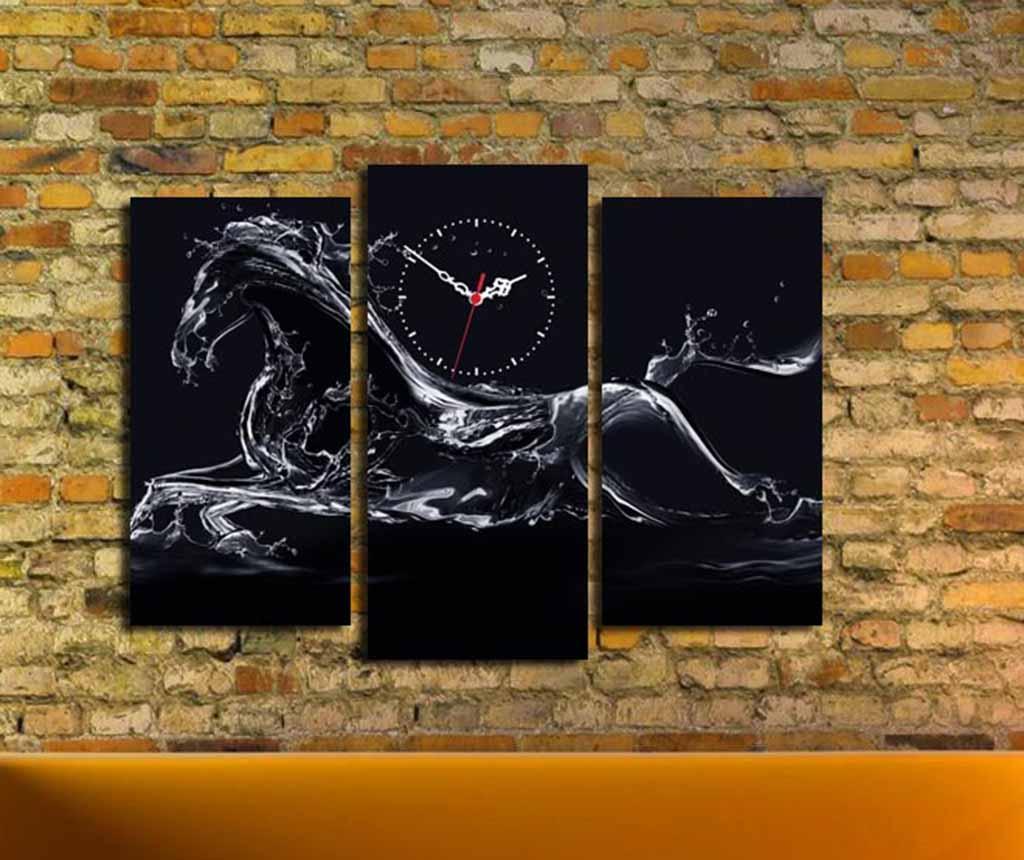 Set 3 tablouri cu ceas Power
