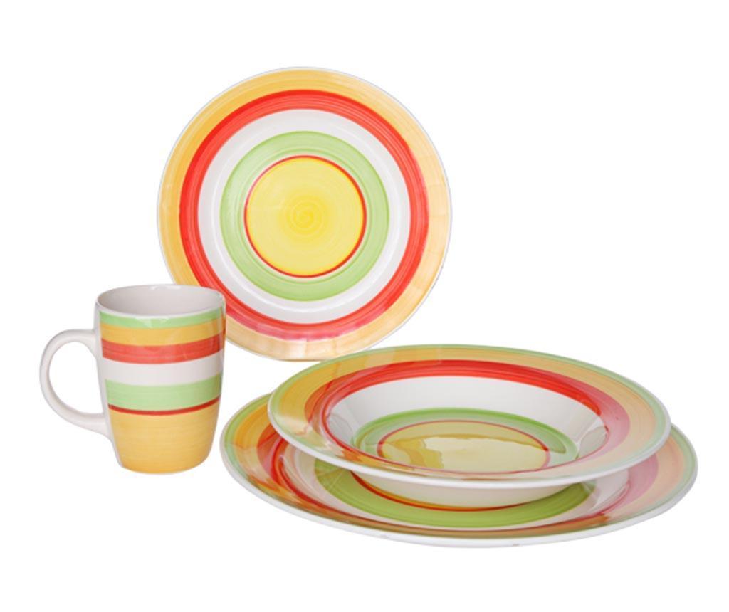 Set de masa 16 piese Nimes - Cosy & Trendy, Multicolor imagine