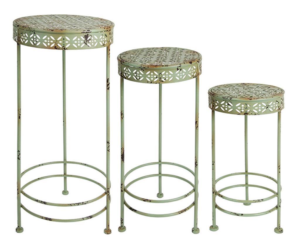 Set 3 suporturi pentru ghivece Plants - Esschert Design, Verde imagine