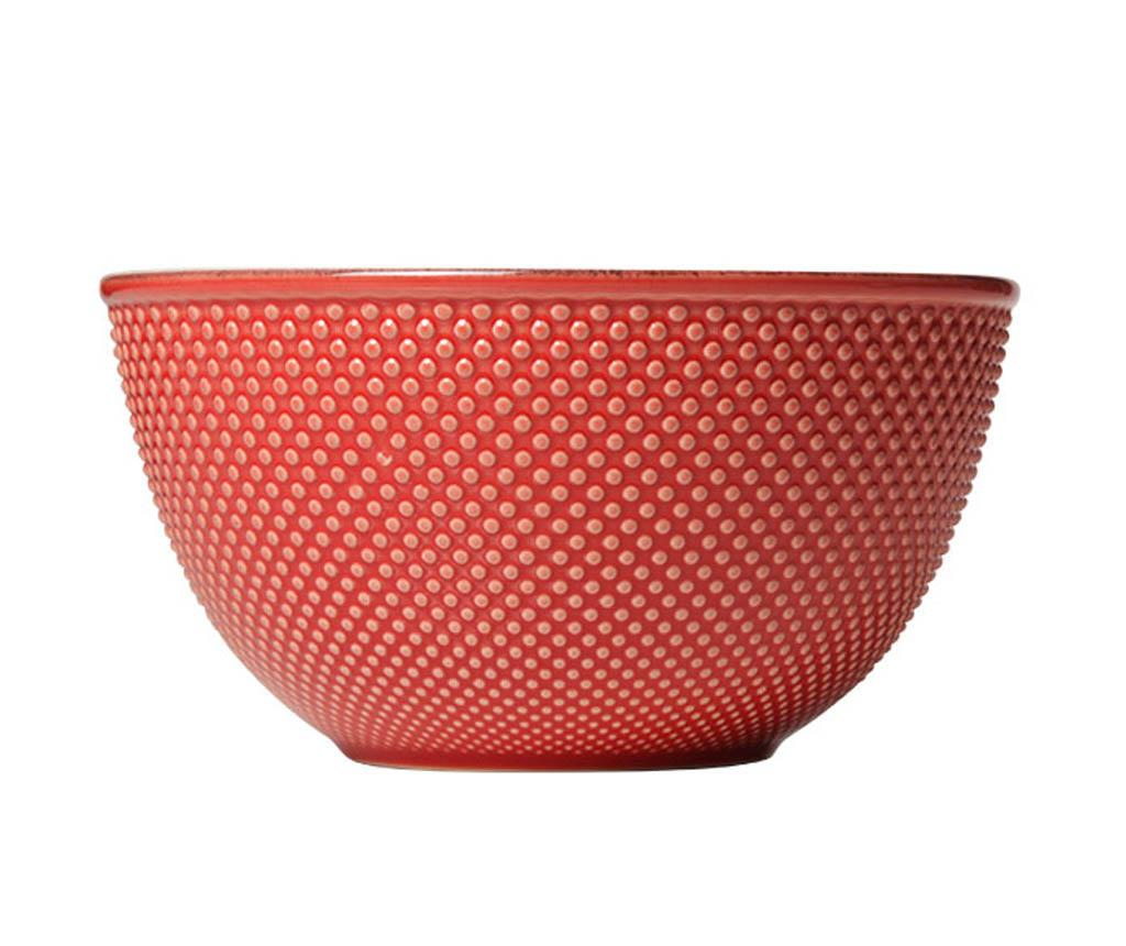 Bol pentru salata Little Dots Red 450 ml