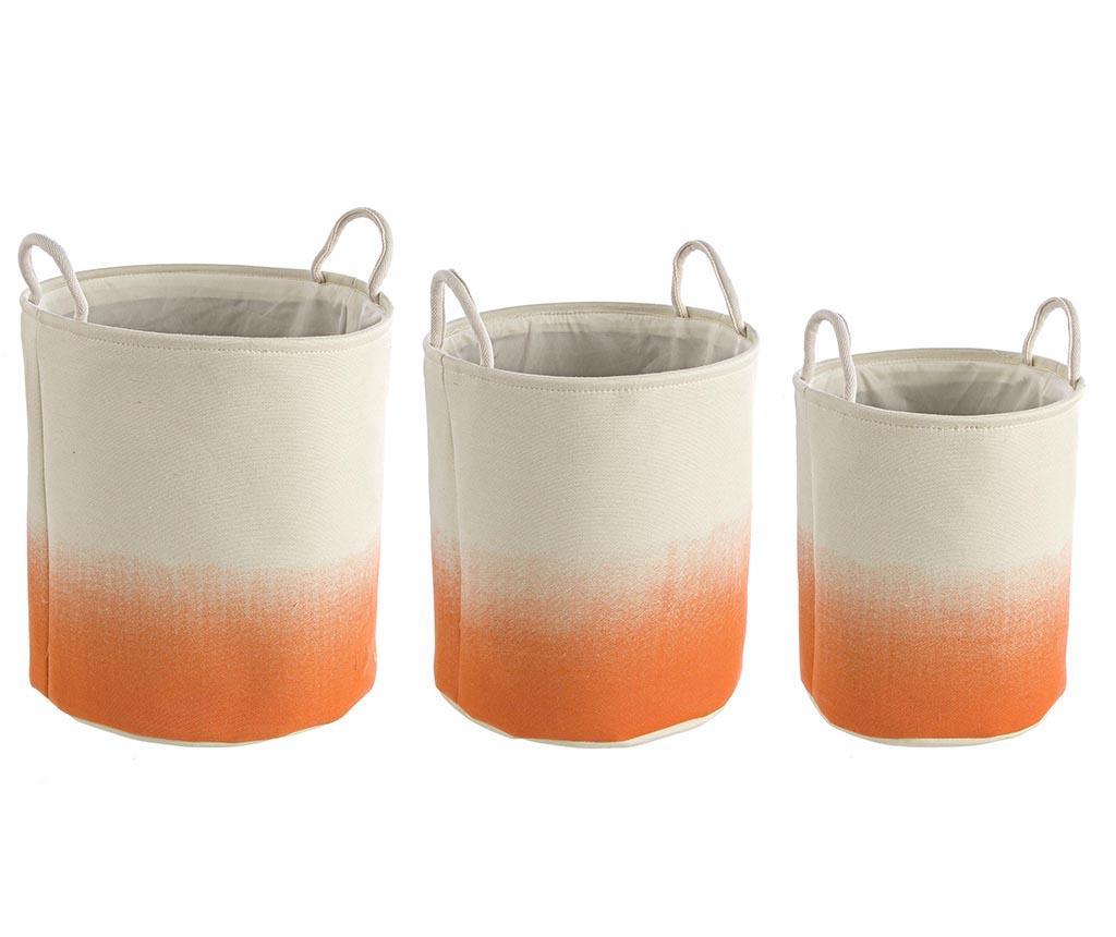 Set 3 cosuri Shadow Round Orange - Bizzotto, Portocaliu
