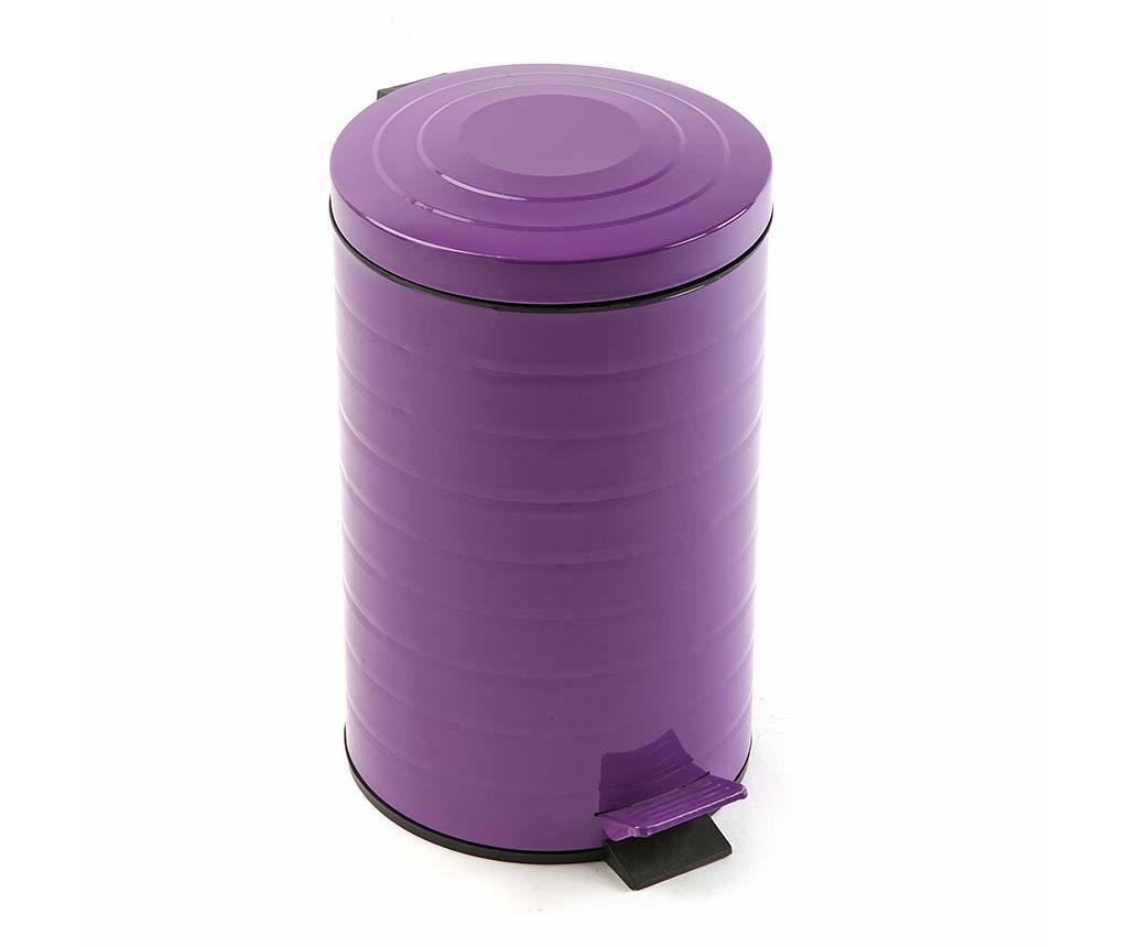 Cos de gunoi cu capac si pedala Joy Purple 12 L imagine
