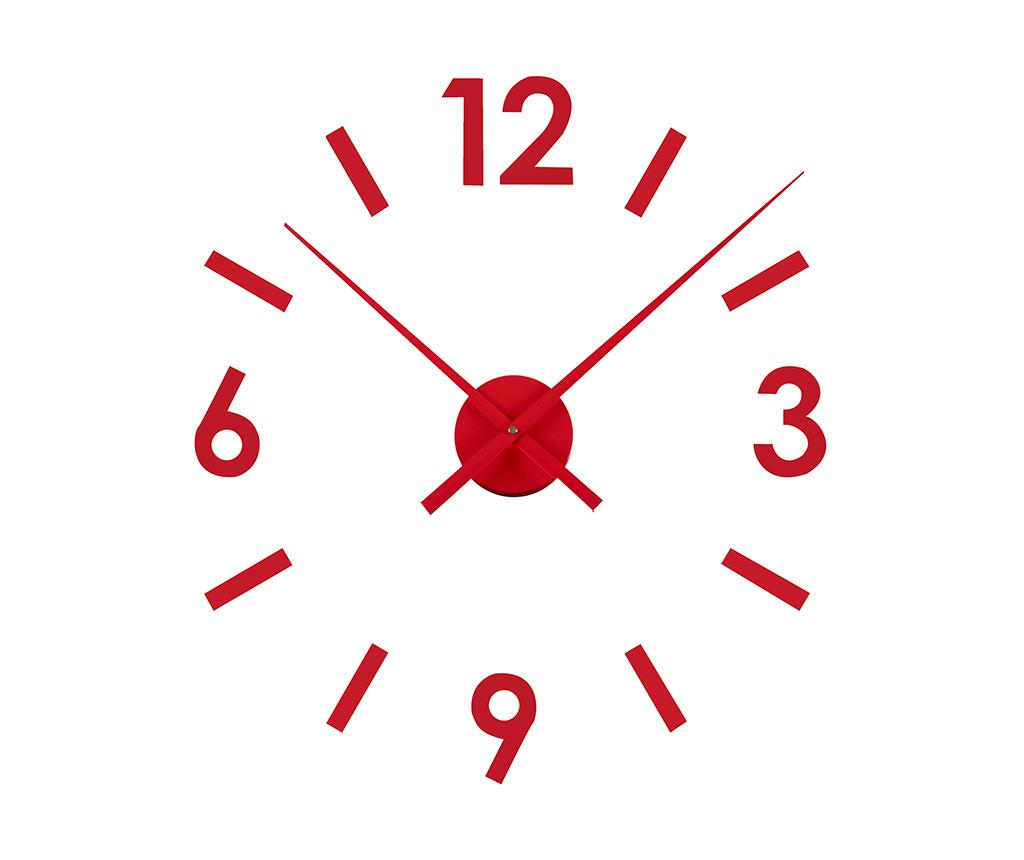 Sticker ceas de perete Time Red