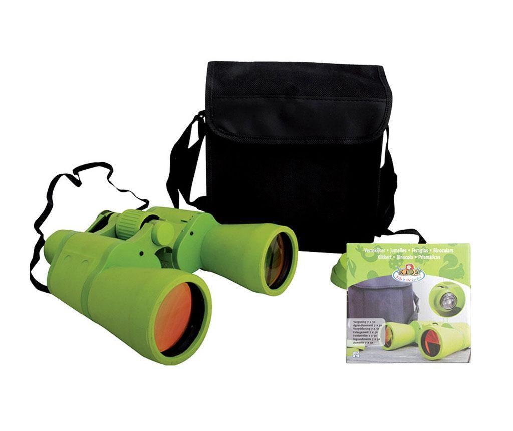 Set binoclu si geanta pentru copii Green