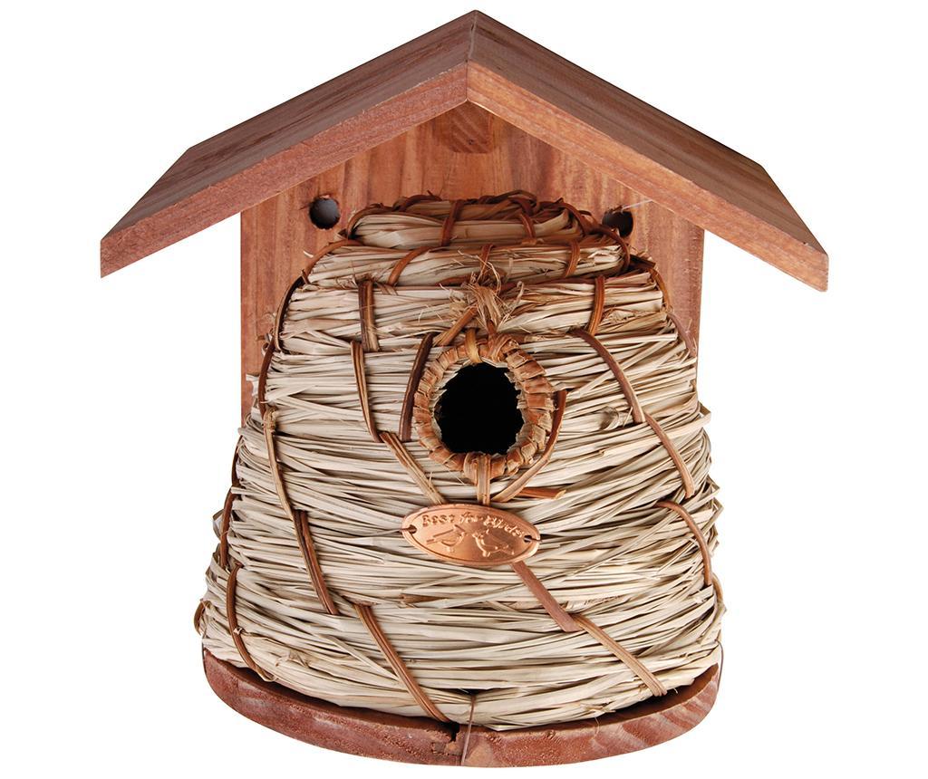 Casuta pentru pasari Birdy Home - Esschert Design, Maro