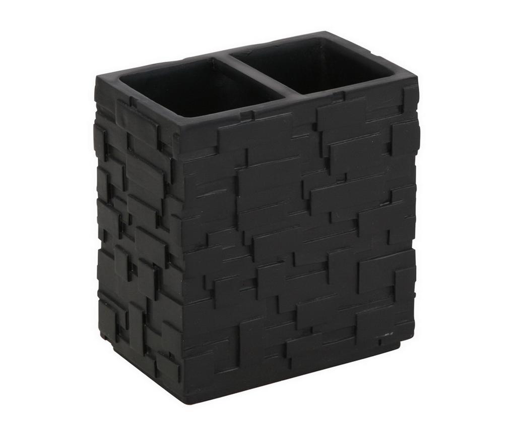 Suport pentru periute de dinti Wall Black - Tomasucci, Negru