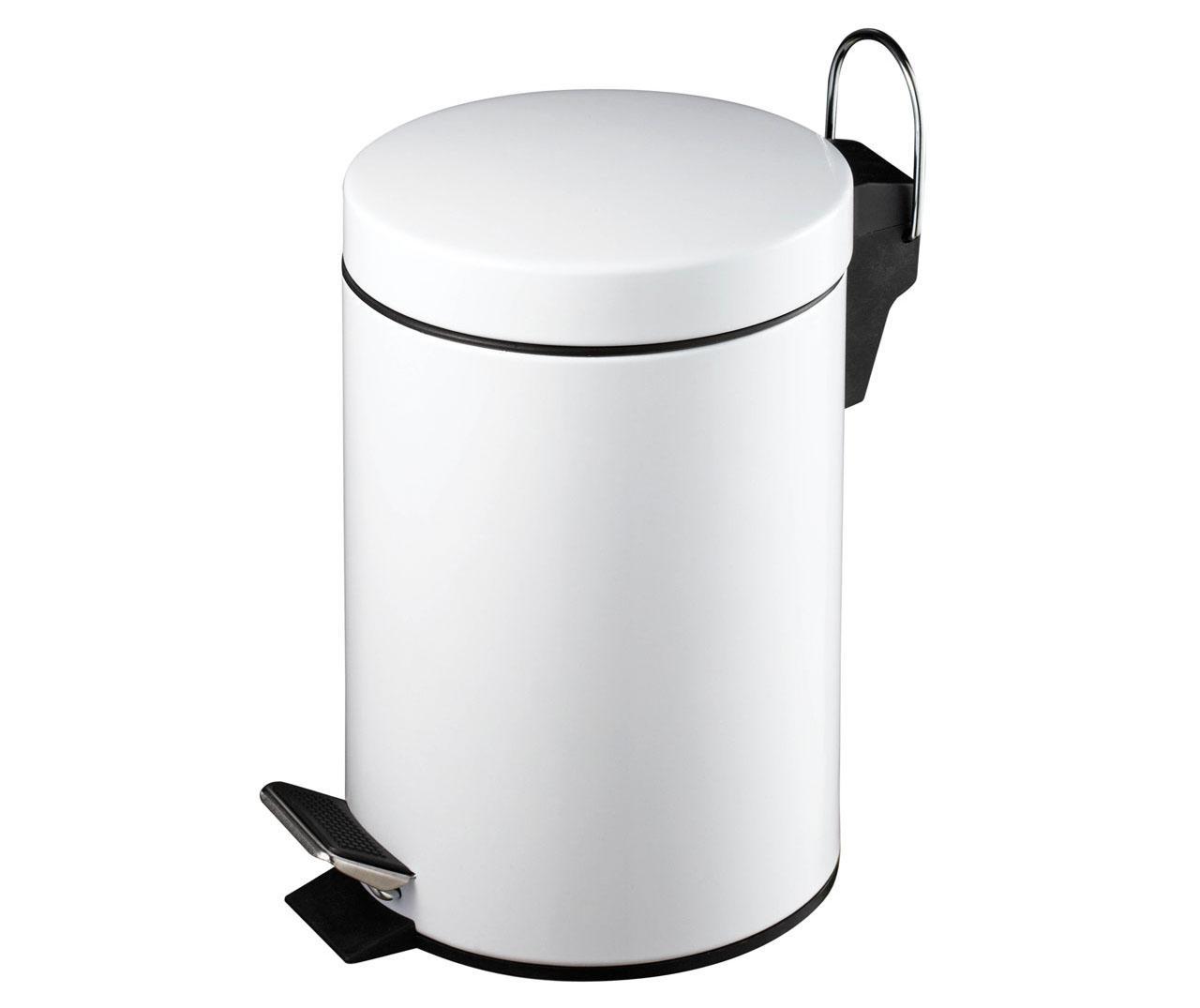 Cos de gunoi cu capac si pedala Simple White 3 L - Premier, Alb imagine
