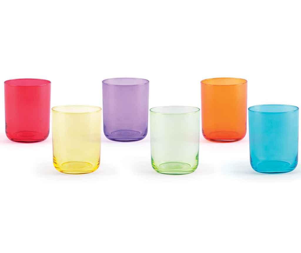 Set 6 pahare Miami 350 ml - Excelsa, Multicolor de la Excelsa