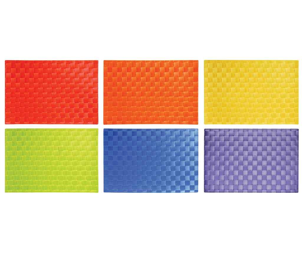Set 6 suporturi farfurii Serenity 30x42.5 cm - Excelsa, Multicolor imagine