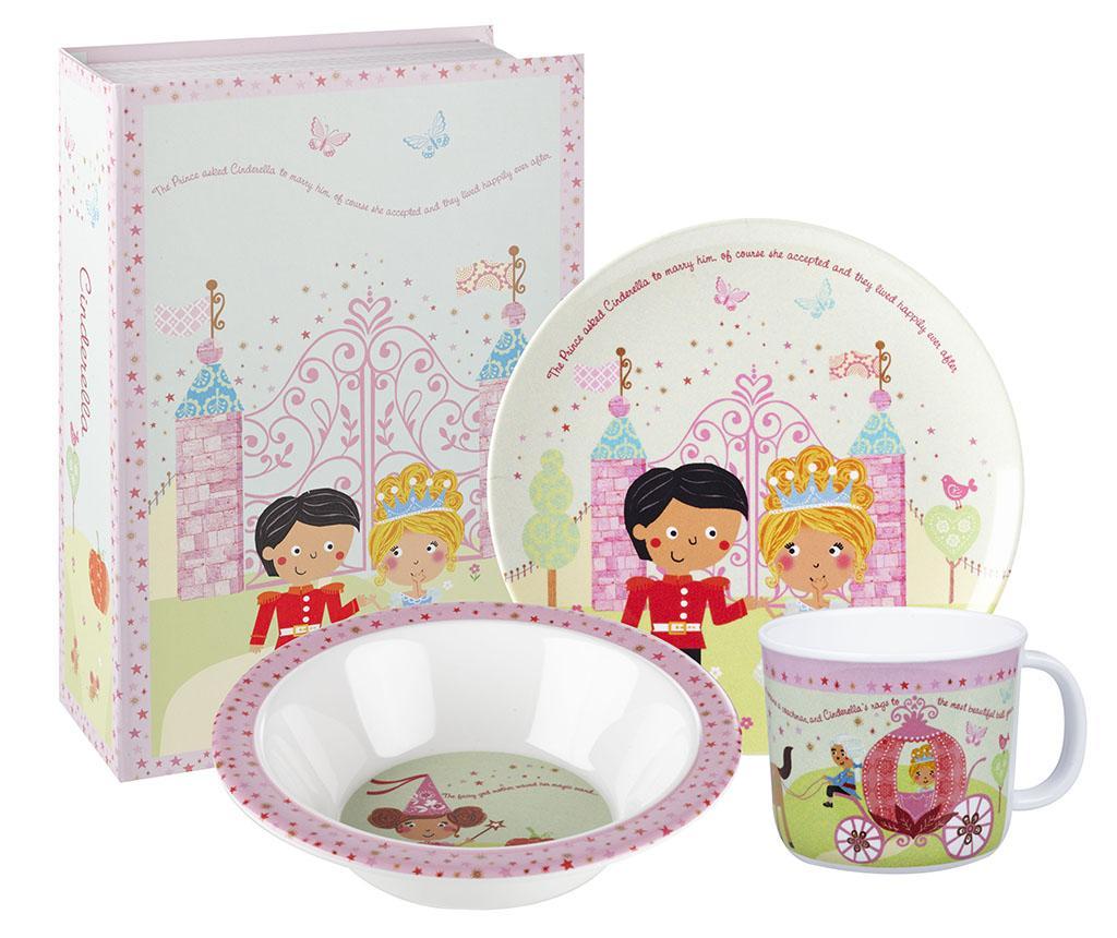 Set mic dejun 3 piese pentru copii Cinderella imagine