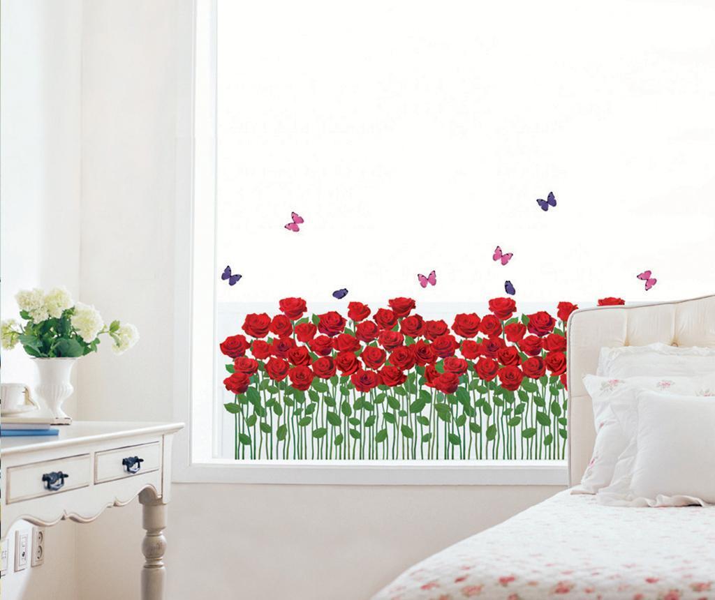 Sticker Red Roses Garden