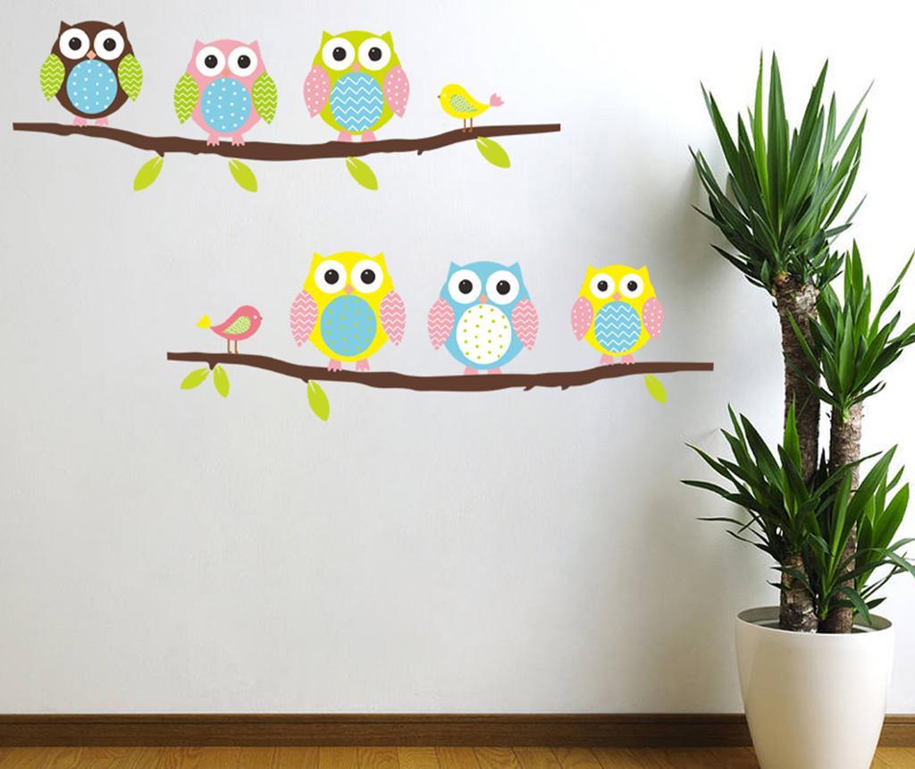 Sticker Owls and Birds on Tree