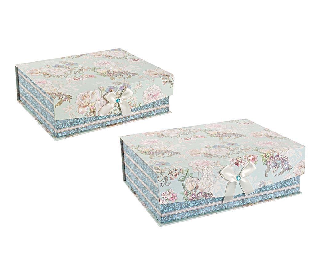 Set 2 cutii cu capac Bella - Bizzotto