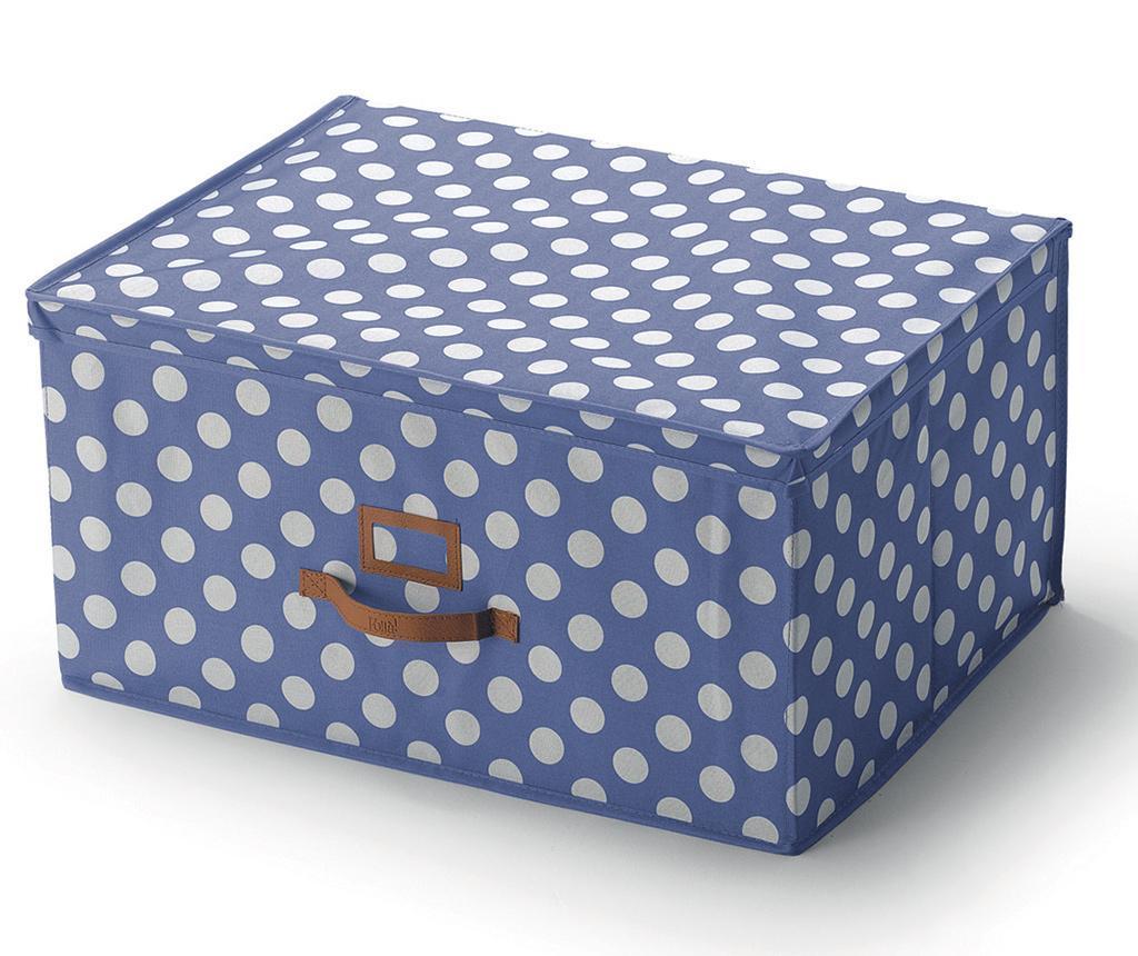 Úložná krabice s víkem Jolie Blue