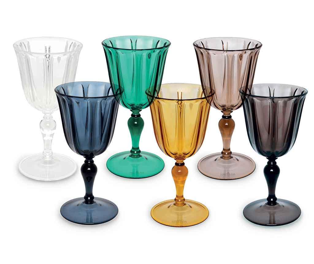 Set 6 pahare pentru vin Country Chic 250 ml - Excelsa, Multicolor imagine