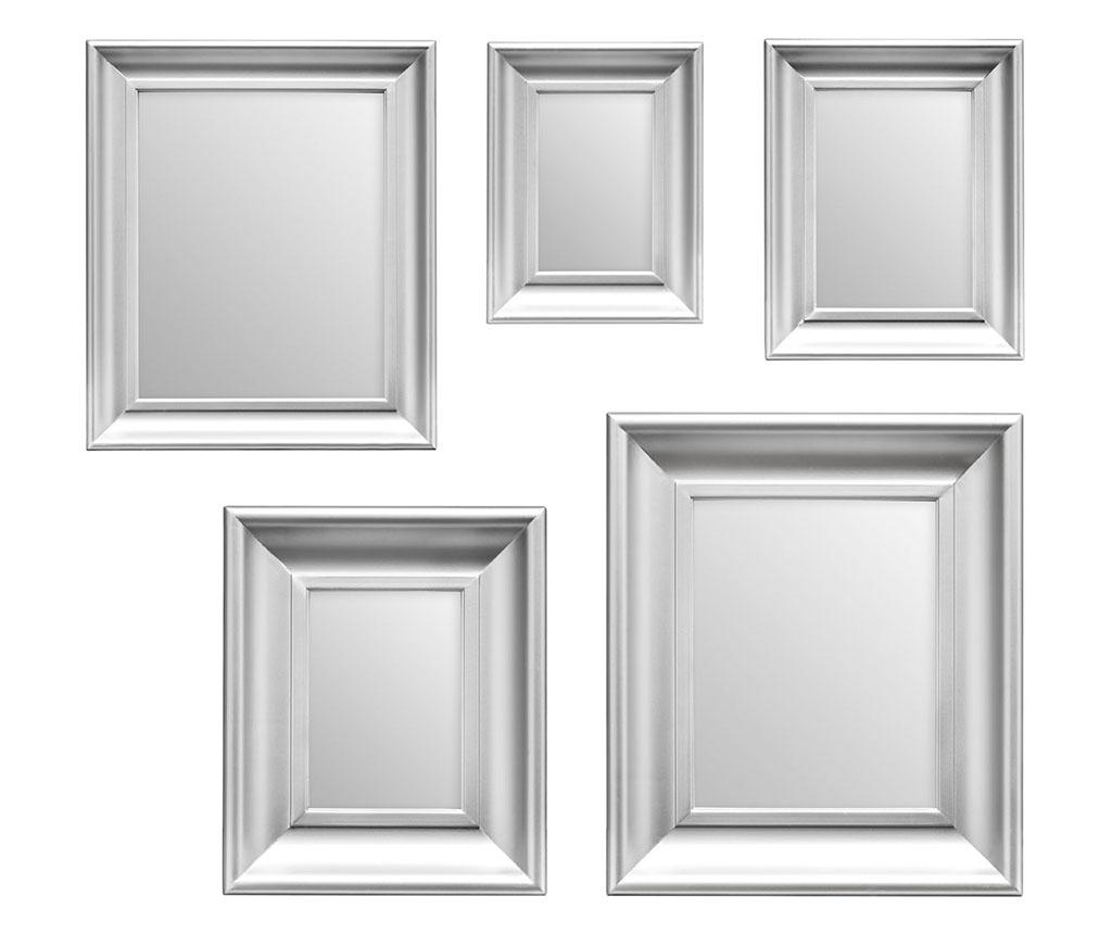 Set 5 oglinzi Sense Silver - Premier, Gri & Argintiu imagine