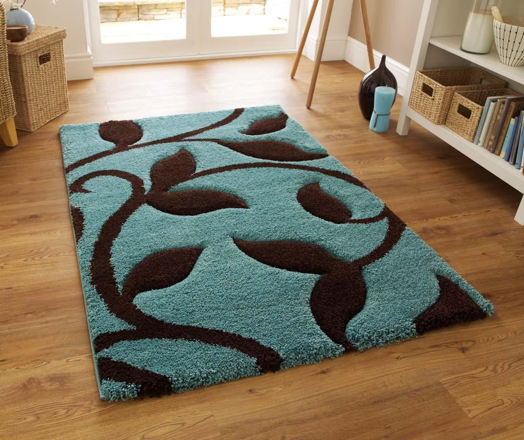Covor Fashion Blue and Brown 160x220 cm vivre.ro