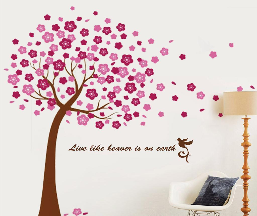 Sticker Pink Tree - Wallplus, Roz imagine
