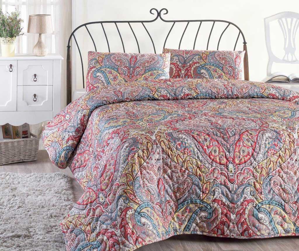 Set cuvertura matlasata Double Paisley - Eponj Home, Roz imagine