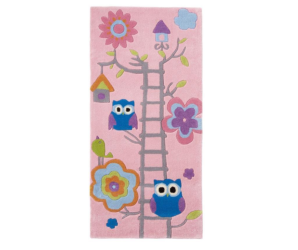 Covor Owl on Ladder Pink 70x140 cm - Think Rugs, Roz imagine