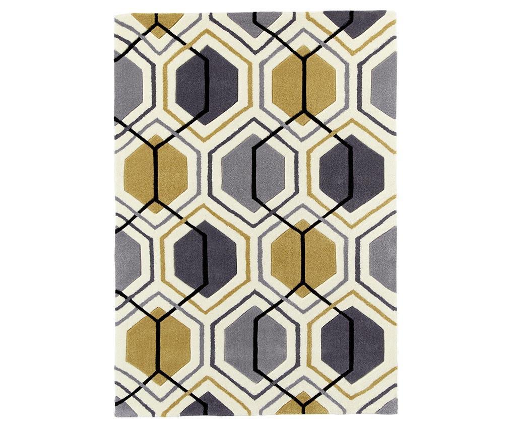 Covor Mixlines Yellow 150x230 cm - Think Rugs, Galben & Auriu,Gri & Argintiu imagine