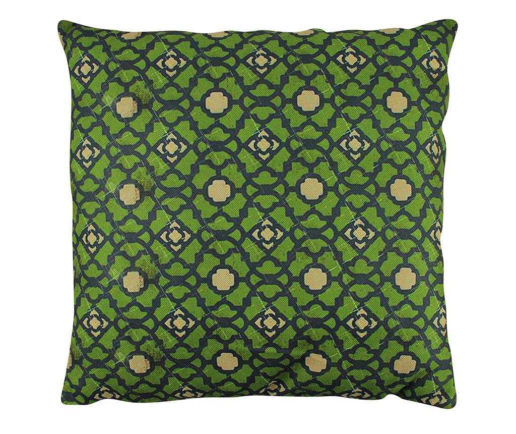 Perna decorativa Esme 43x43 cm - Gravel, Verde imagine