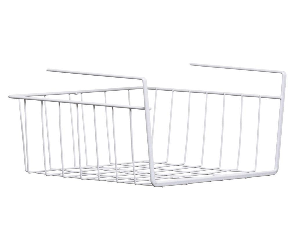 Cos depozitare pentru raft Under Shelf White S