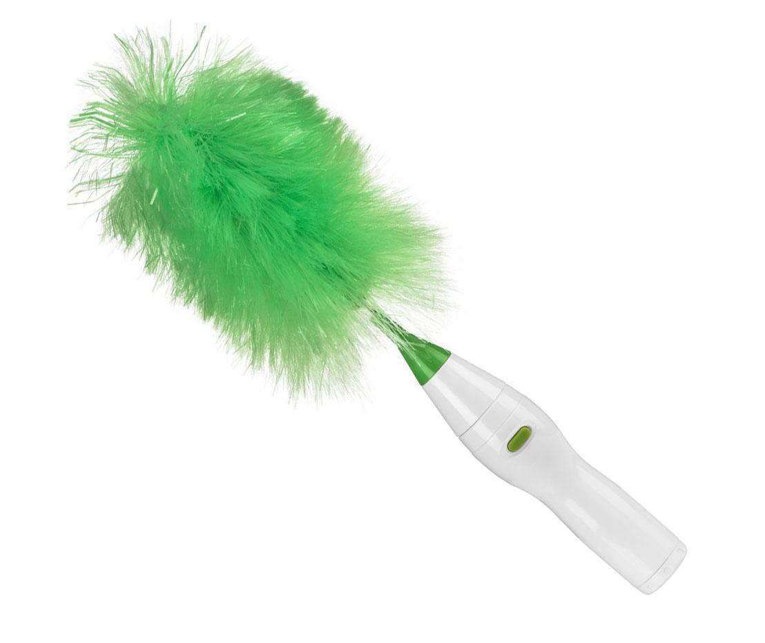 Rotační kartáč na prach Fluff White Green
