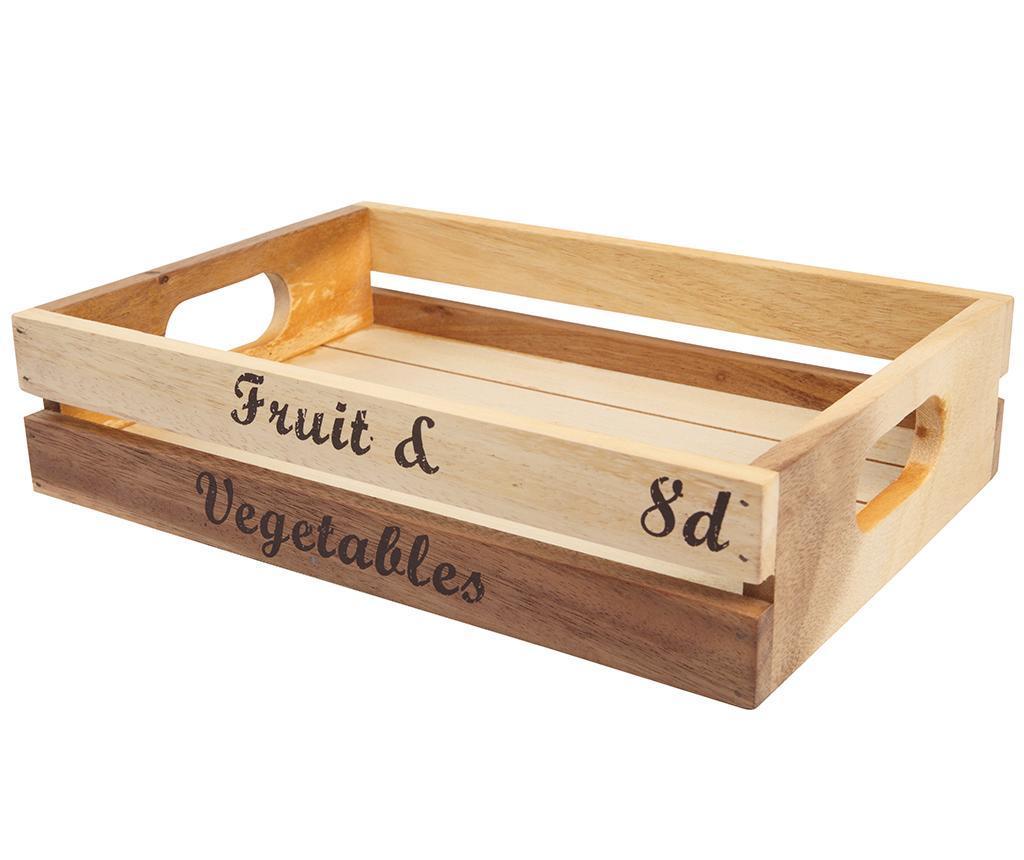 Lada pentru depozitare Fruit and Vegetables - T&G Woodware, Crem poza