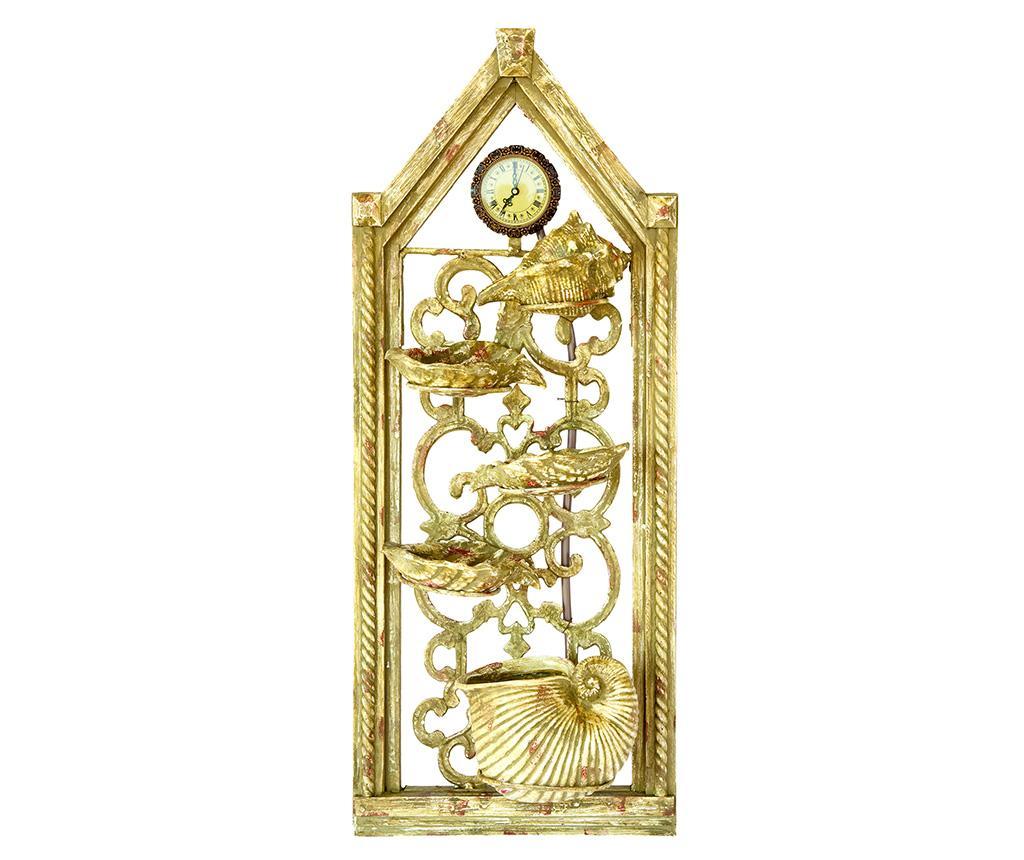 Fantana decorativa de perete cu ceas Golden Hour imagine