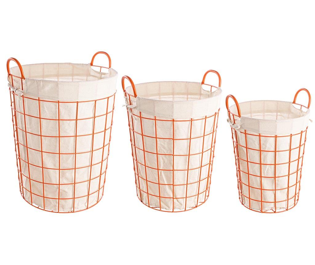Set 3 cosuri Samar Orange - Bizzotto, Portocaliu