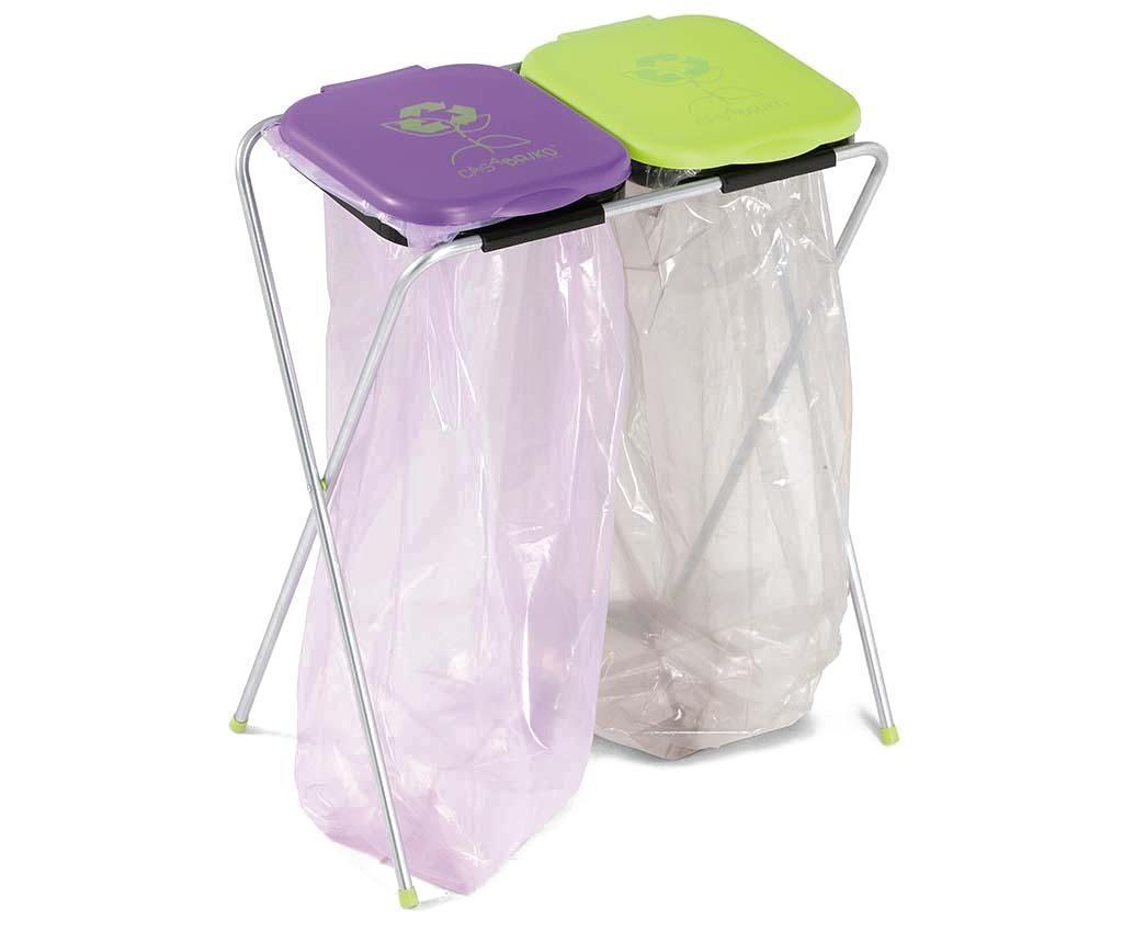 Suport saci de gunoi pentru reciclare Eko - CASABRIKO, Multicolor vivre.ro