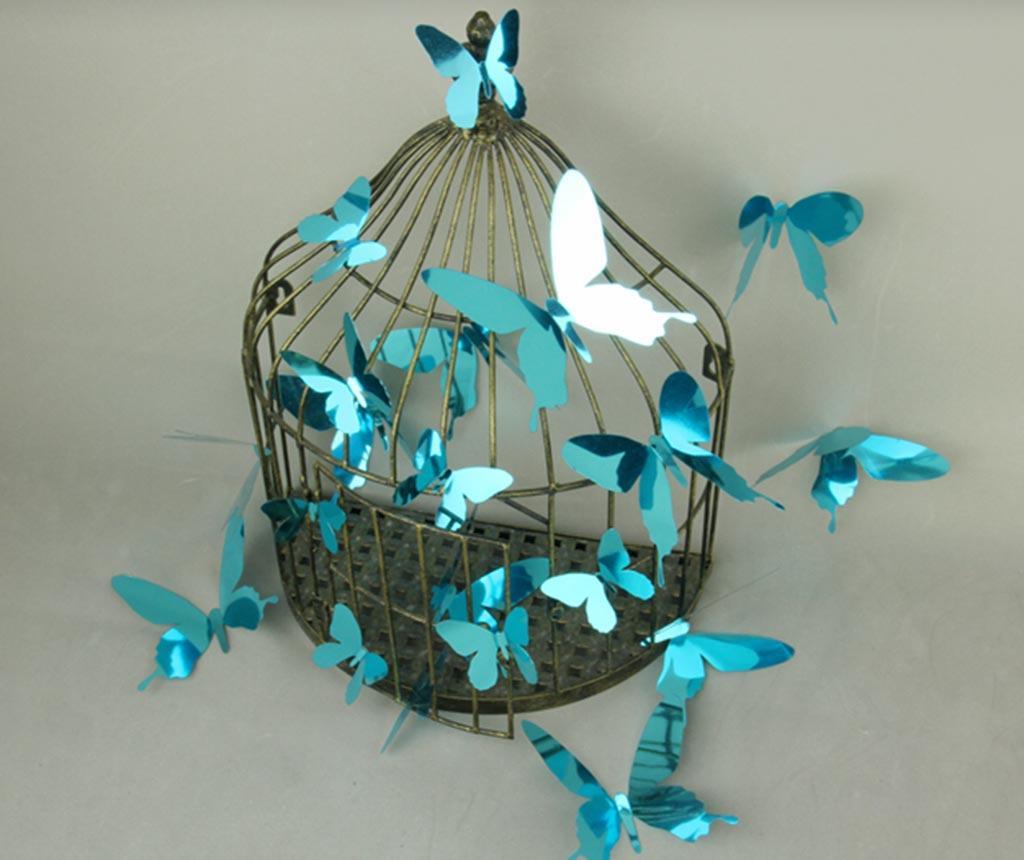 Set 12 stickere 3D Mirror Butterfly Blue