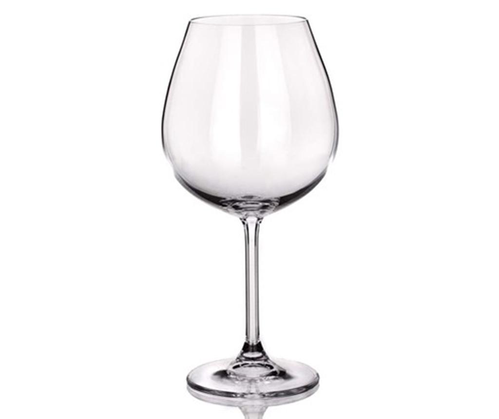 Set 6 pahare pentru vin Degustation Crystal Banquet Burgundy 650 ml imagine