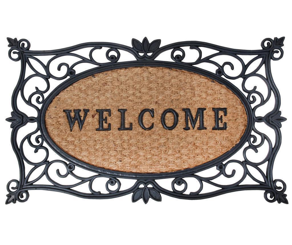 Covoras de intrare Welcome 45x75 cm - Esschert Design, Maro