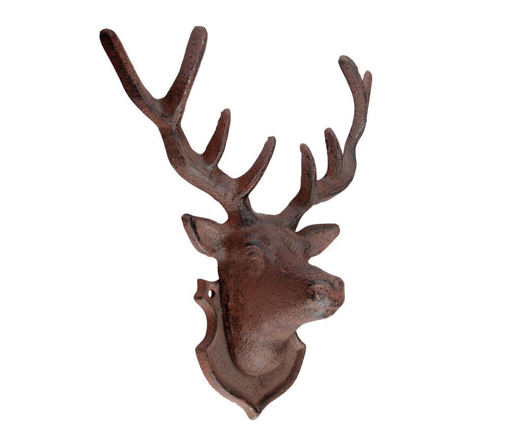 Decoratiune de perete Deer - Esschert Design, Maro imagine