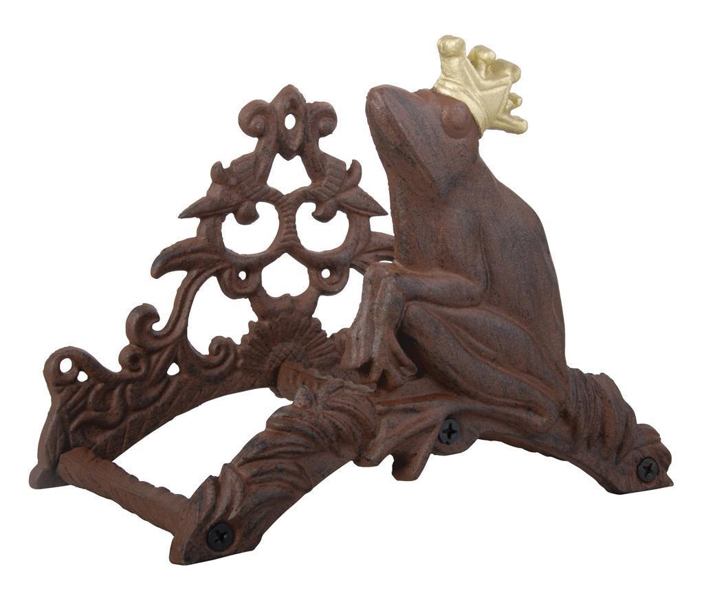 Suport pentru furtun de gradina Frog King - Esschert Design, Maro imagine