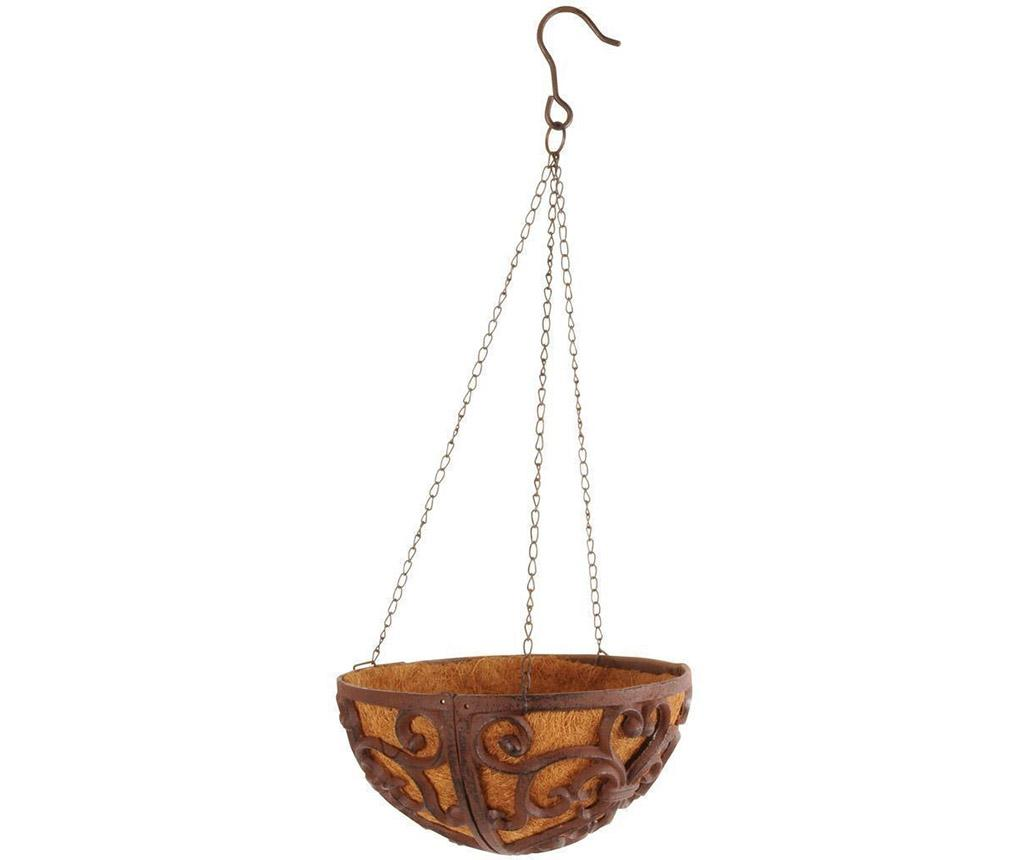 Suport suspendabil pentru ghiveci Coco - Esschert Design, Maro