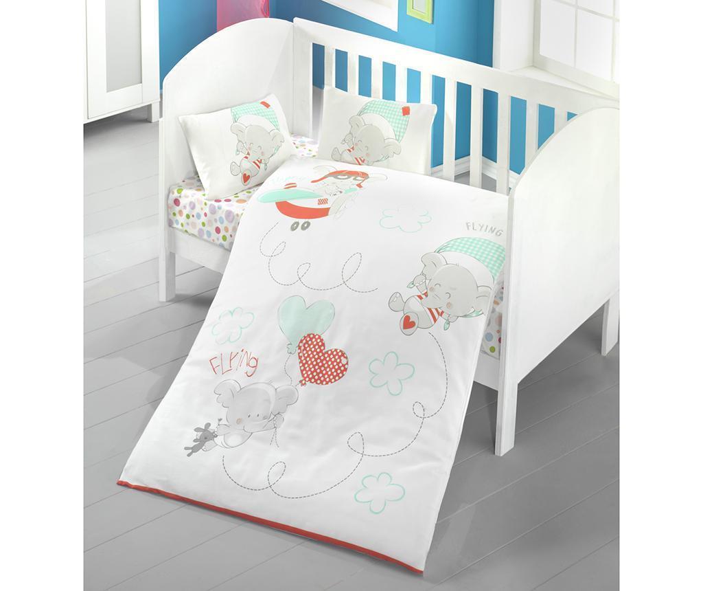 Lenjerie de patut Ranforce Baby Sky 100x150 - Victoria, Alb imagine