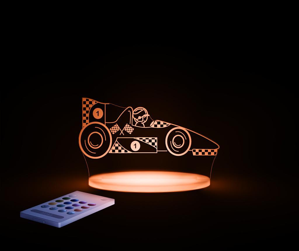 Lampa de veghe Race Car - Aloka, Alb imagine
