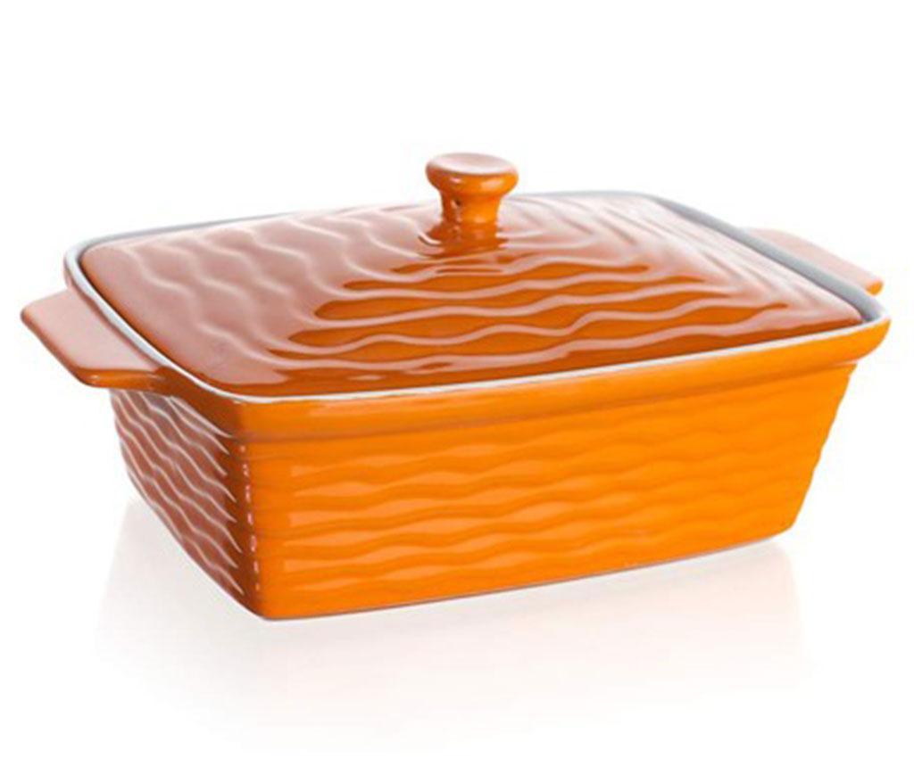 Vas de copt cu capac Culinaria Orange 2.25 L imagine