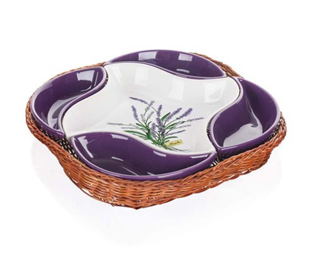 Set 5 boluri pentru aperitiv si cos Lavender Flowers - Banquet imagine